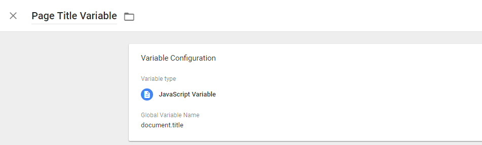 Setting Up Variables in Google Tag Manager