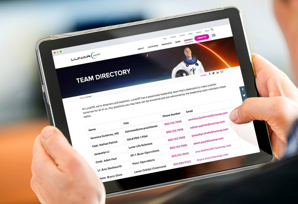 How to Create a Team Directory on Your Website