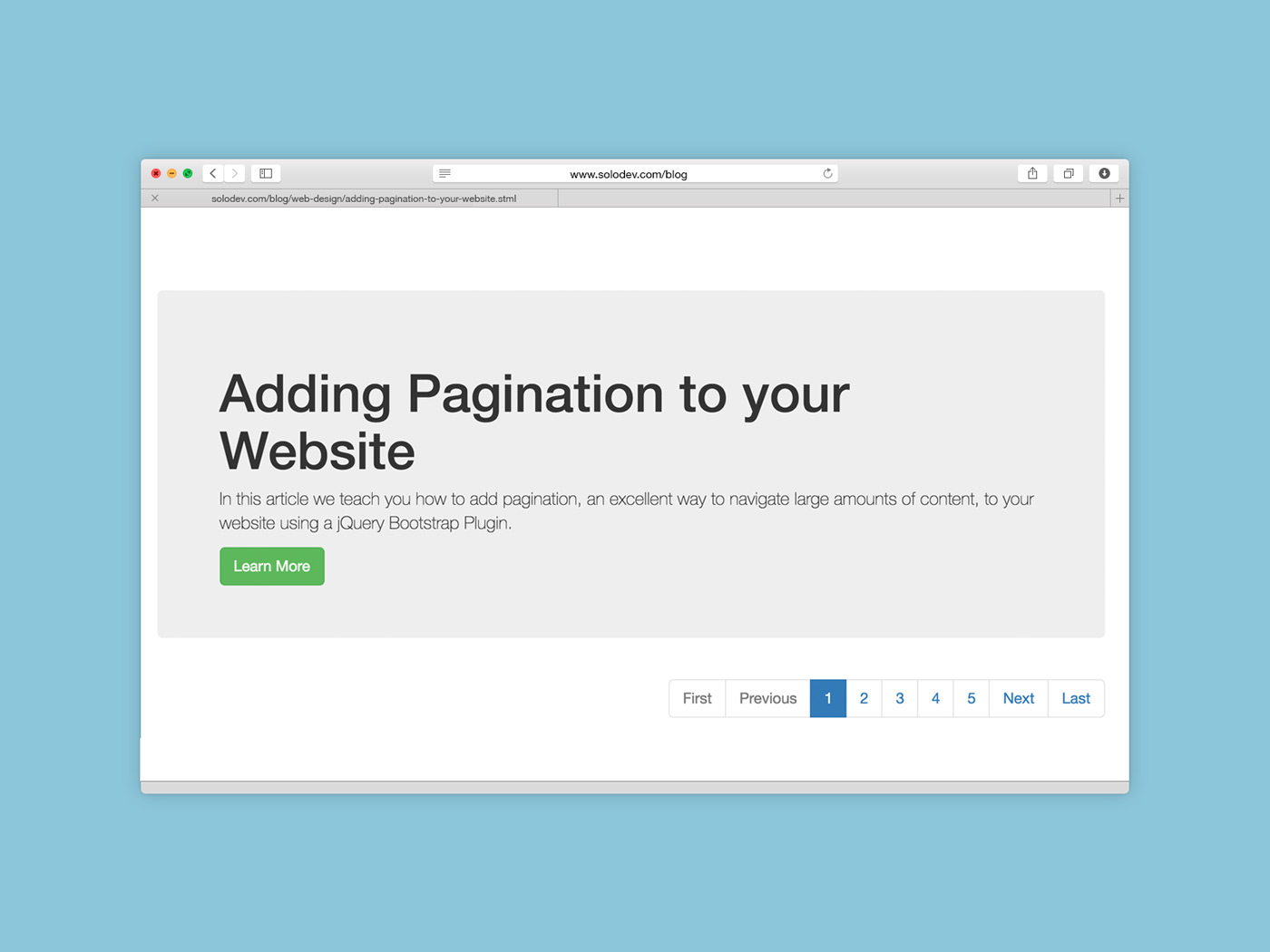 Adding Pagination To Your Website Solodev