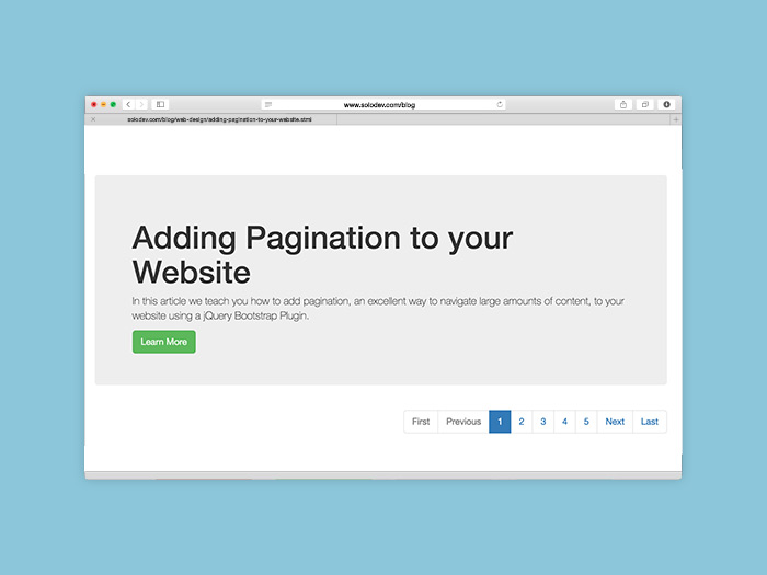 Adding Pagination to your Website | Solodev
