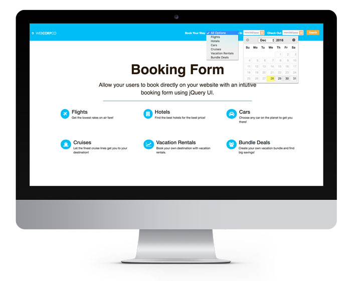 How to Create a Booking Form with jQuery UI | Solodev