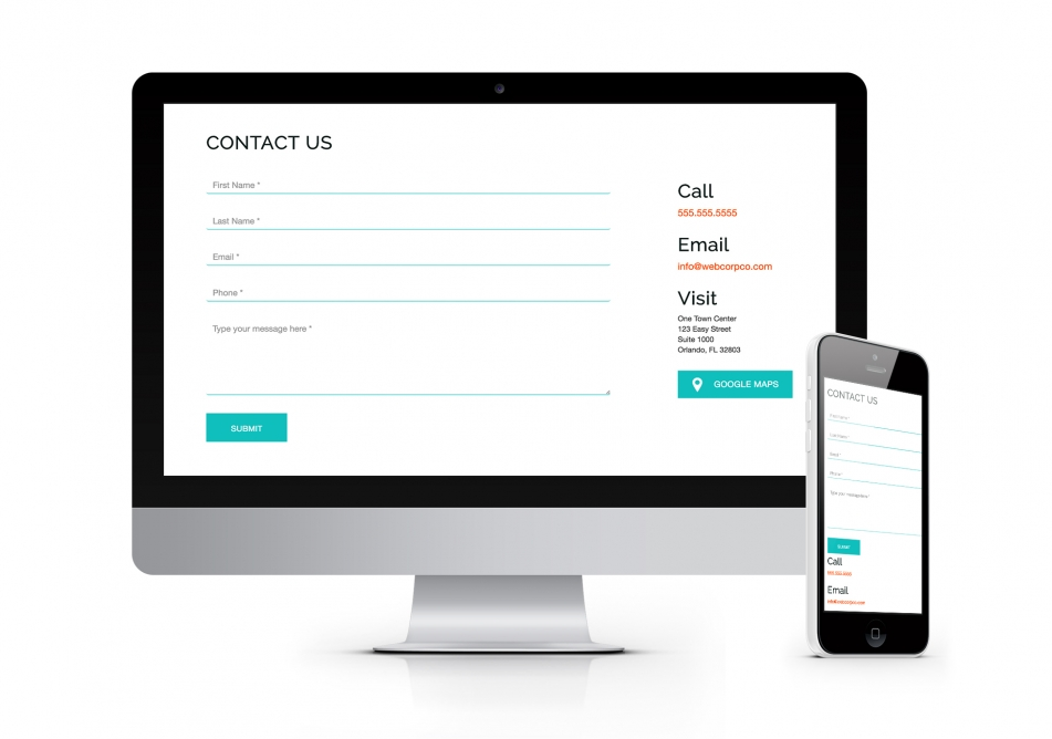 Responsive Contact Us Design | Solodev