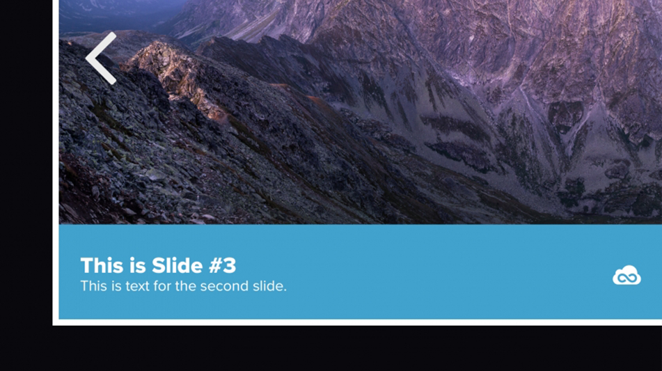 Hero slide image of a mountain with slide caption