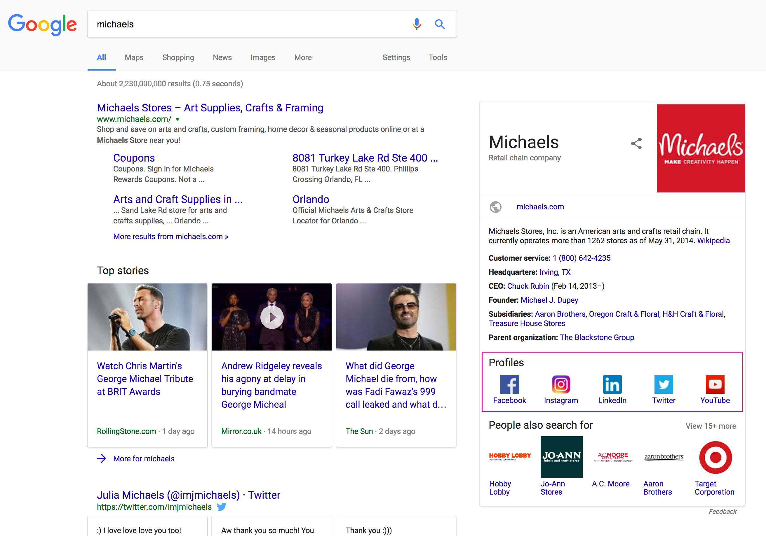 How to Add Social Share to your Company's Google Search