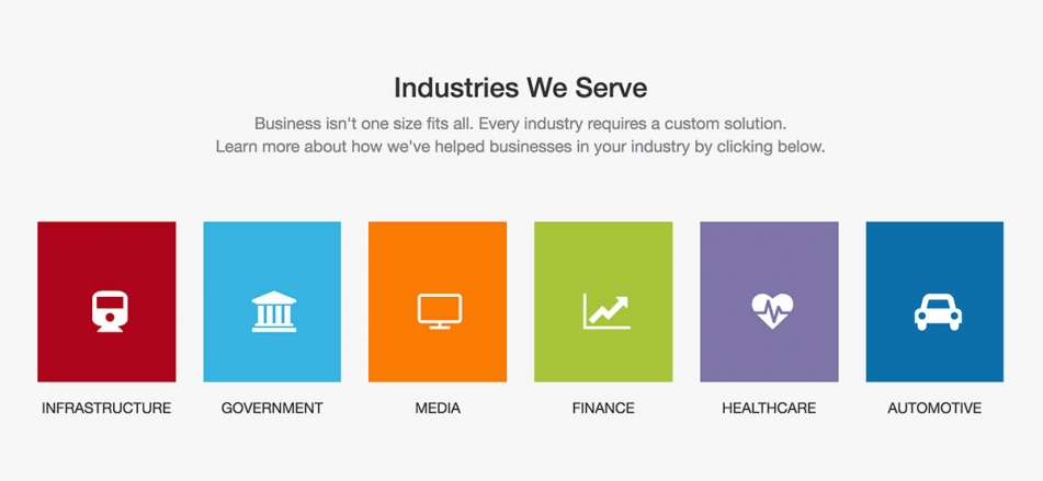 Adding an Industry Section to your Homepage