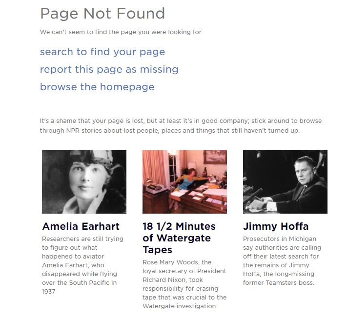 Text offering story alternatives about famous people who were lost throughout history