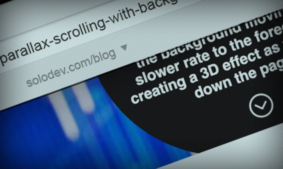 Using Parallax Scrolling with Background Images | Solodev