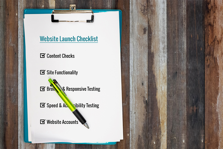 Items For Your Website Launch Checklist
